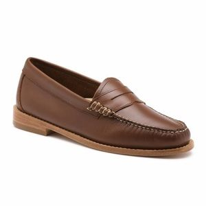 G.H. Bass Weejuns Whitney Brown Loafers 7.5 WIDE
